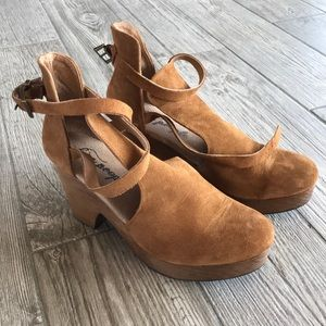 Free People Suede Clogs